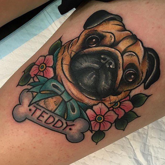 prt tatoo pug