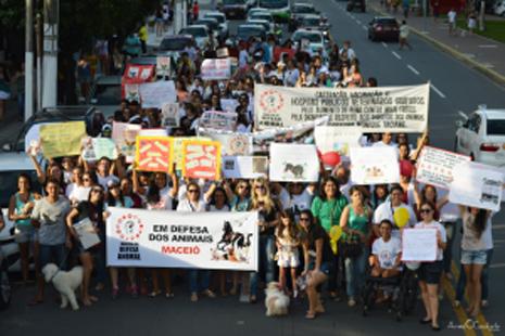 marcha em defesa dos animais