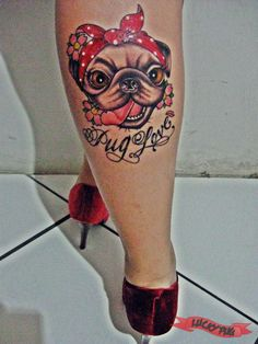 pug pet tatuagem