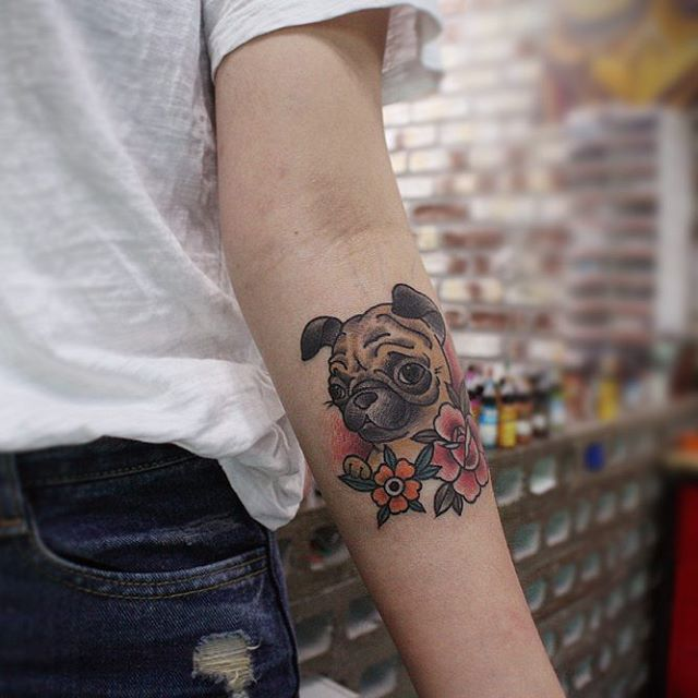 pug tattoo85