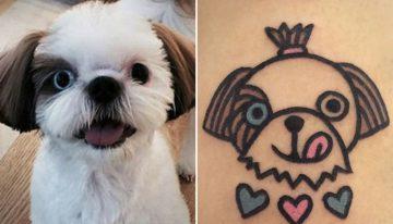 15 Ideias de tatuagens para amantes de cães da raça Shih tzu