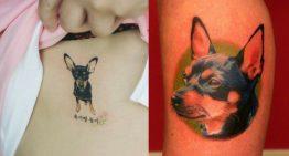 14 Ideias de tatuagens para amantes de cães da raça Pinscher